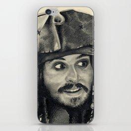 Captain Jack Sparrow ~ Johnny Depp Traditional Portrait Print iPhone Skin