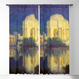 San Francisco Palace of the Fine Arts Temple and Lagoon landscape painting by Colin Campbell Cooper  Blackout Curtain