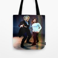 run Tote Bags featuring Run! by Taylor Bookout