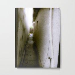 Narrow Alleyway Metal Print