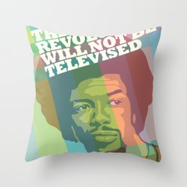 The revolution will not be televised Throw Pillow