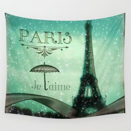 Paris... Je t'aime Wall Tapestry