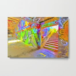 London Graffiti Pop Art Metal Print