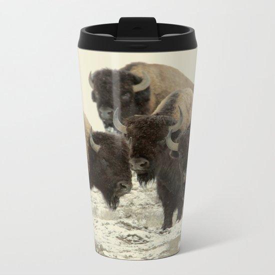 American Buffalo Metal Travel Mug