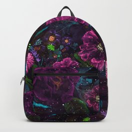 Whimsical Watercolor night garden floral hand paint Backpack