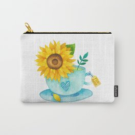 Sunflower Cup of Tea Carry-All Pouch