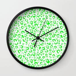Leopard (green fur design) Wall Clock