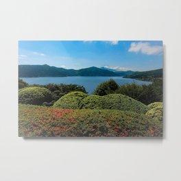 Ashinoko to Fujisan Metal Print