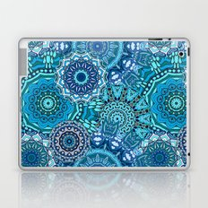 Blue Boho Mandela Pattern 5 Laptop & iPad Skin