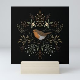 Little Woodland Robin Mini Art Print