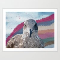 Hawk view Art Print