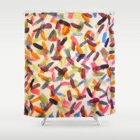 sprinkles Shower Curtains featuring Sprinkles by Rachel Butler