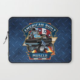 American Built Muscle - Classic Muscle Car Cartoon Illustration Laptop Sleeve