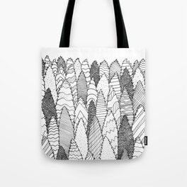 Pattern Trees Tote Bag