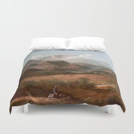 View of Pike's Peak Duvet Cover