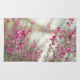pink flowers  Rug