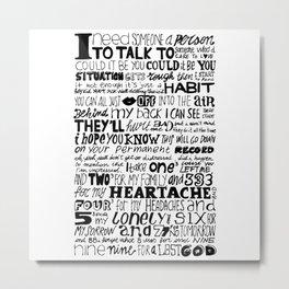 Word Metal Print