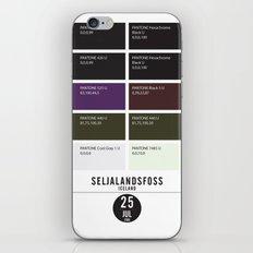PANTONE glossary - Iceland - Seljalandsfoss iPhone & iPod Skin