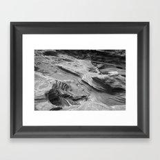 Lava Rocks at the Beach Framed Art Print