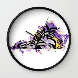 jmu dukes splatter Wall Clock
