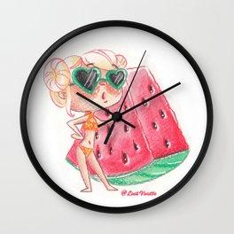 Miss pastèque Wall Clock