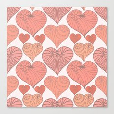 Pink hearts. Canvas Print