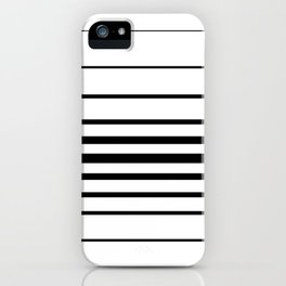 Clean Simple Minimal Stripes (black on white) iPhone Case