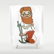Wool beard Shower Curtain