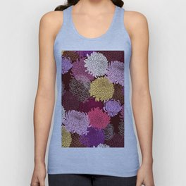 Autumn garden of chrysanthemums Unisex Tank Top