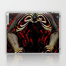 8744-KMA Rear View Feet Legs Thighs Vulva Abstracted Zebra Woman Maher Laptop & iPad Skin