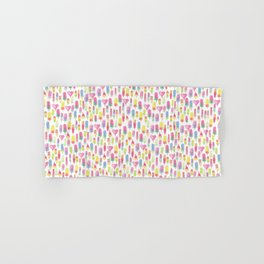 Watercolor Ice-cream and Popsicles Hand & Bath Towel