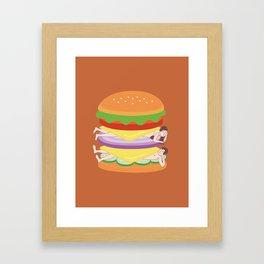 Love Burger Framed Art Print