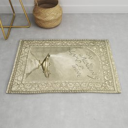 Christmas and birthday cards with poems from Aladdins Lamp by Joaquin Millers poem Rug