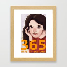 365 Days of Sketches: Number #140 Framed Art Print