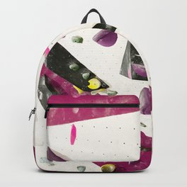 Maroon climbing wall boulders bouldering gym abstract geometric print Backpack