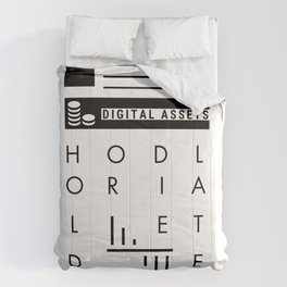 HODL: Hold Or Die Later | Black and White | HODL Collection 2020 Comforters