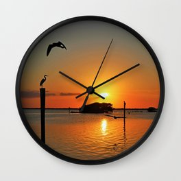 Coastline Chorus Wall Clock