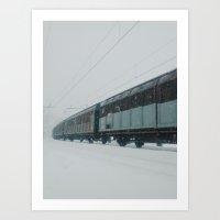 train Art Prints featuring train by Bor Cvetko