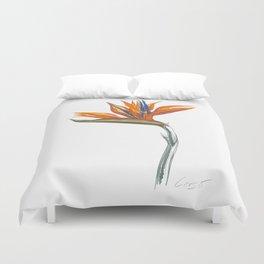 Bird of Paradise 01 Botanical Flower Duvet Cover