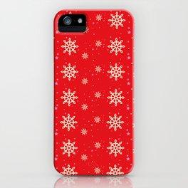 xmas snowflakes iPhone Case