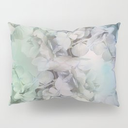 Artistic Hydrangea flowers in soft blue and purple Pillow Sham