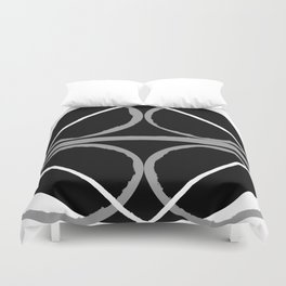 Geometric Unity Centered in a Circle Duvet Cover