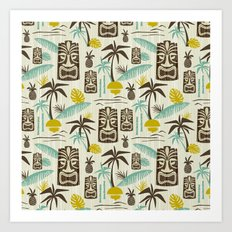 Island Tiki - Tan Art Print