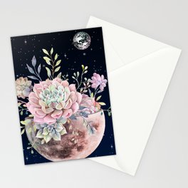 succulent night light Stationery Cards