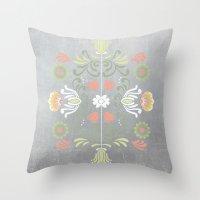 folk Throw Pillows featuring Folk by Marta Olga Klara