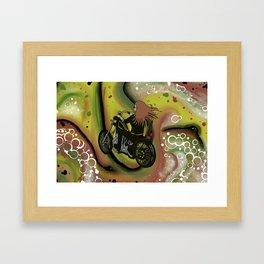Just Ride Framed Art Print