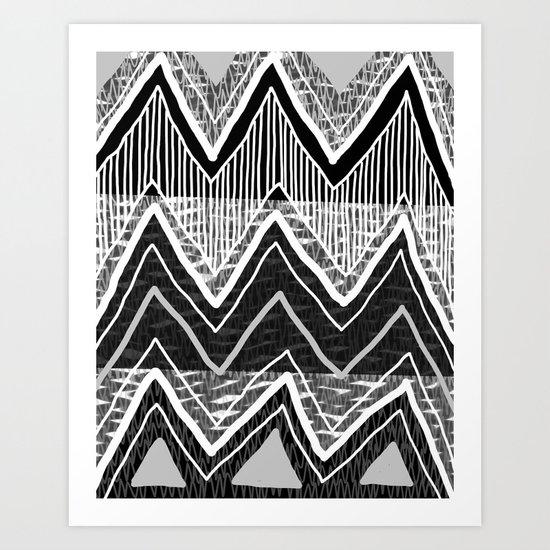 Sunchoke #5 // Black + White Version Art Print
