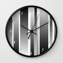 Color Black gray Wall Clock