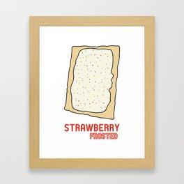 Strawberry Frosted Popped Art Framed Art Print