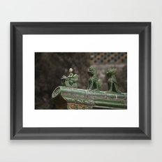 Queueing Framed Art Print